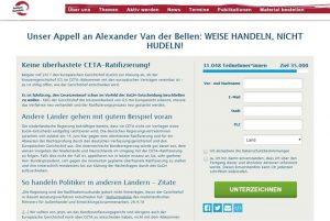 ‼Dringenden Appell‼an Bundespräsident VDB unterzeichnen: Sagen Sie nein zu CETA