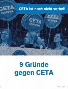 Der Widerstand gegen  #CETA ist groß, und das europaweit! Allein in Deutschland