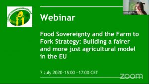 Food Sovereignty and the Farm to Fork Strategy: Building a fairer and more just agricultural model in the EU ansehen